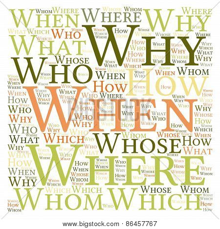 Questions Word Cloud