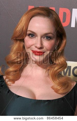 LOS ANGELES - MAR 25:  Christina Hendricks at the Mad Men Black & Red Gala at the Dorthy Chandler Pavillion on March 25, 2015 in Los Angeles, CA