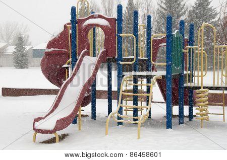 Winter Playground Equipment, Slides