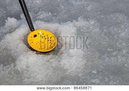 Ice fishing.
