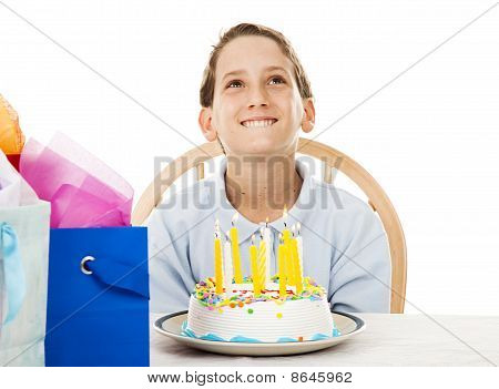 Birthday Boy Makes A Wish