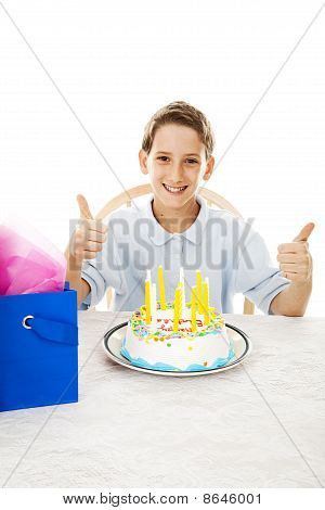 Thumbs Up For Birthday Cake