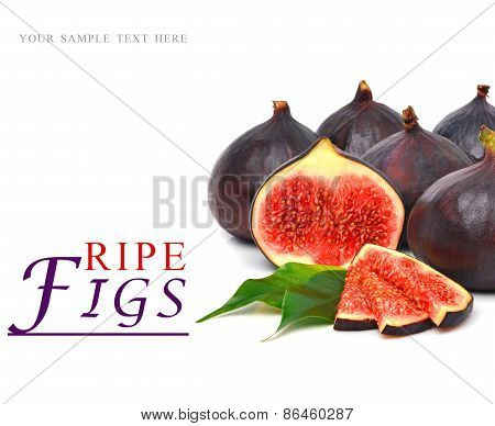 Group Of Fresh Ripe Figs