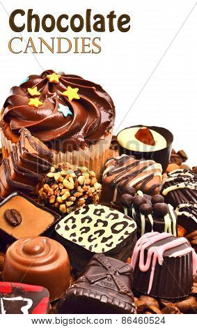 ?hocolate Sweets, Muffins And Coffee Grains