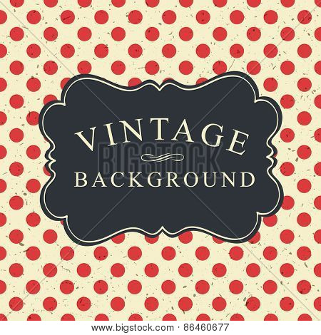 Polka Dot Vintage Card Template