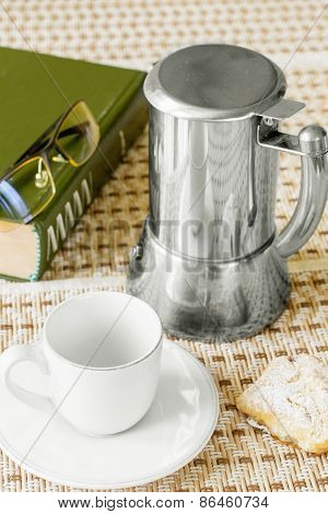 Coffee Cup Baking Book Glasses