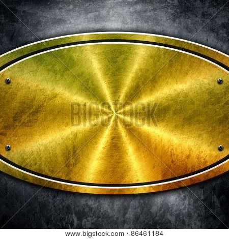 oval metal plate background