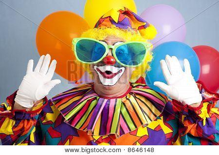 Dumme Clown-Überraschung