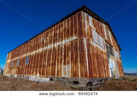 Rusted Metal Barn