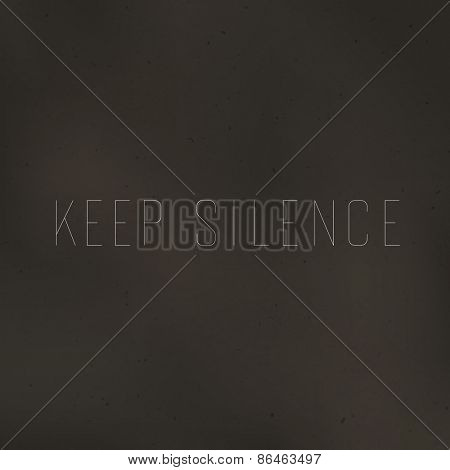 Keep Silence Poster
