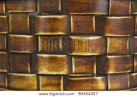 Dark Woven Bamboo Background