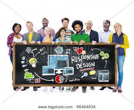 Responsive Design Internet Web Online Students Education Concept