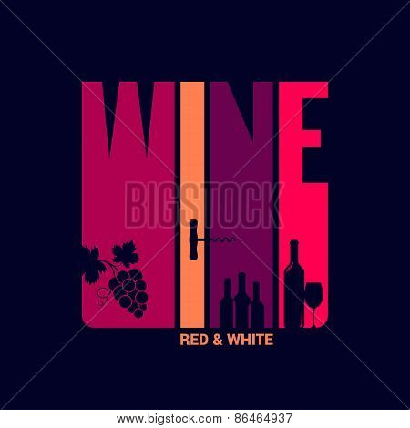 wine label design background
