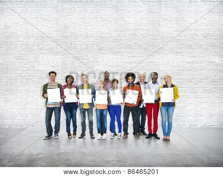 Ethnicity Casual People Standing Cheerful Concept