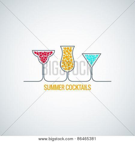 summer  cocktails menu background