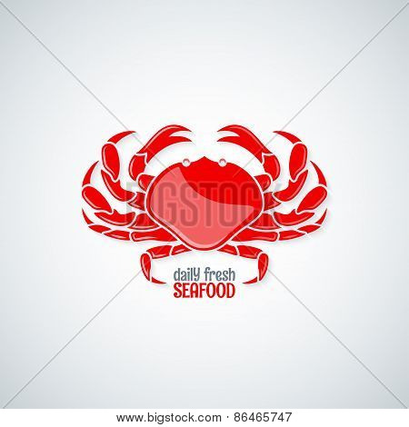 crab seafood menu background