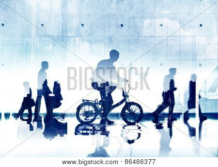 Business People Commuter City Life Mode Of Transport Concept