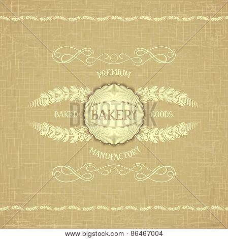 Vintage design for decoration bakery