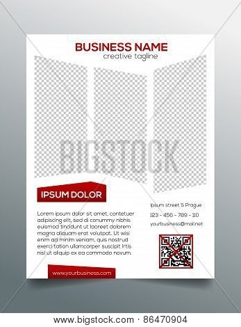 Creative minimalistic business flyer template