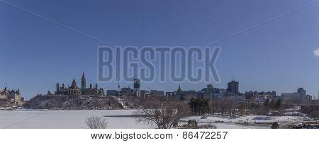 City landscape in Winter
