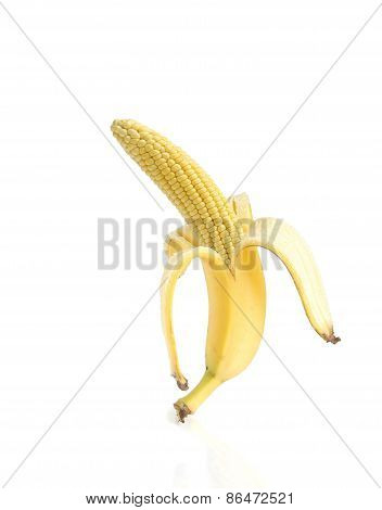 Banana and corn
