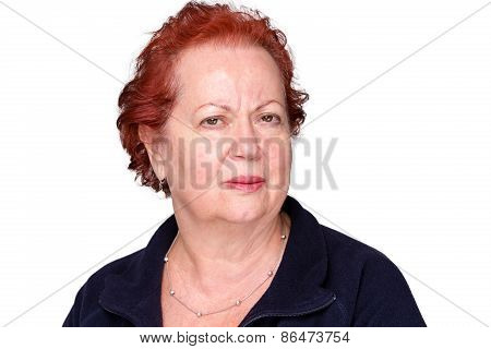 Perplexed Senior Lady With A Puzzled Frown