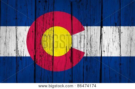 Colorado State Flag Grunge Background