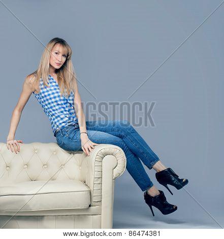 Fashion Photo Of  Blonde Woman.