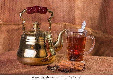 Tea on a light background.