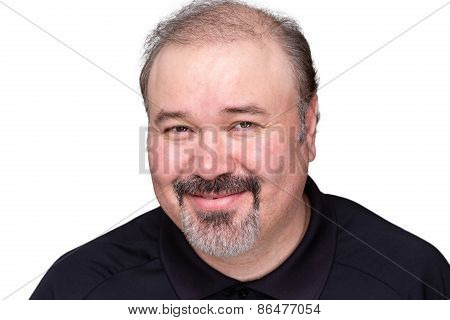 Smiling Genial Middle-aged Man