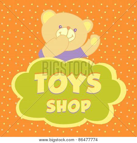 Toys shop. Background