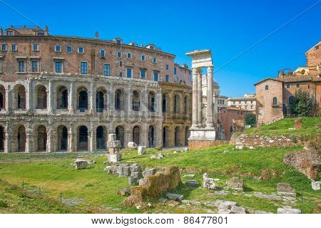 The Theater Of Marcellus Rome - Italy