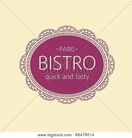 Bistro logo. Paris