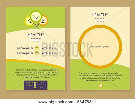 Healthy food. Template flyer