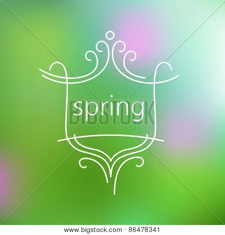 Spring logo and background