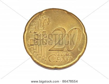 Coin, denominational value 20 euro cent