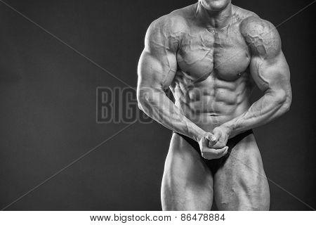 Muscular strong man.