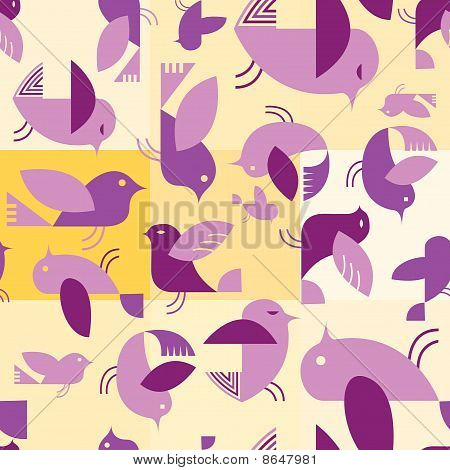 Retro Birds Seamless Tile