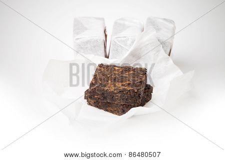 Small Pressing Briquette Of Black Shu Pu-erh Tea