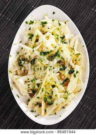 Salad Of Turnip With Vinaigrette And Coriander
