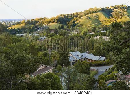 California Spring Green Hills Before Sunset