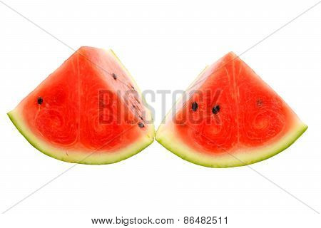 Water Melon Isolate White Backgeound With Clipping Path