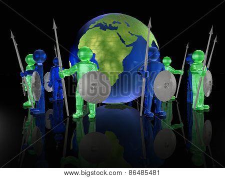 Men With Globe