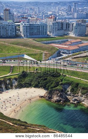 Small Beach In La Coruna