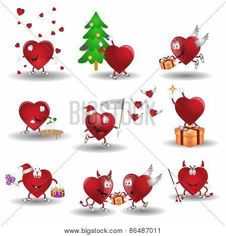heart cartoon valentine icon