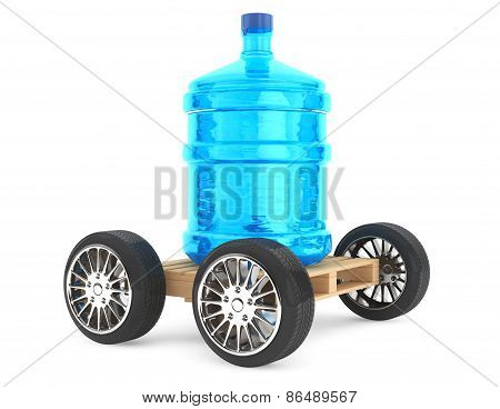 Big Bottle Of Drinking Waterwith Wheels