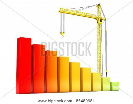 Hoisting Crane With Progress Bars