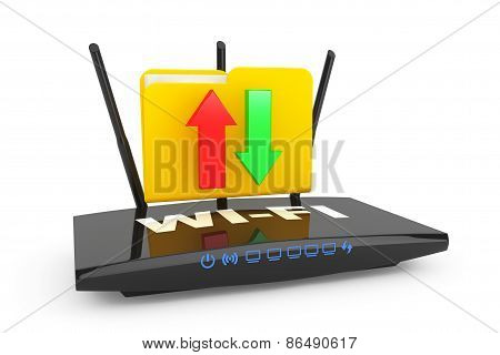 Modern Router With Folder
