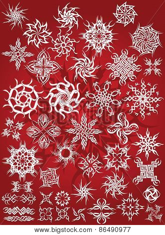 snow flake tattoo tribal christmas