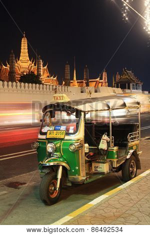 Tuktuk Parking Near Grand Palace Or Wat Phra Kaew